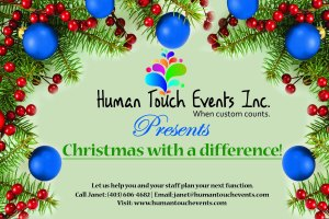 Human Touch Events Christmas 2015 Postcard - front (2)
